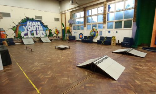 Ham Youth Centre - set up for skating